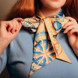 Dapper day celestial compass print silk scarf